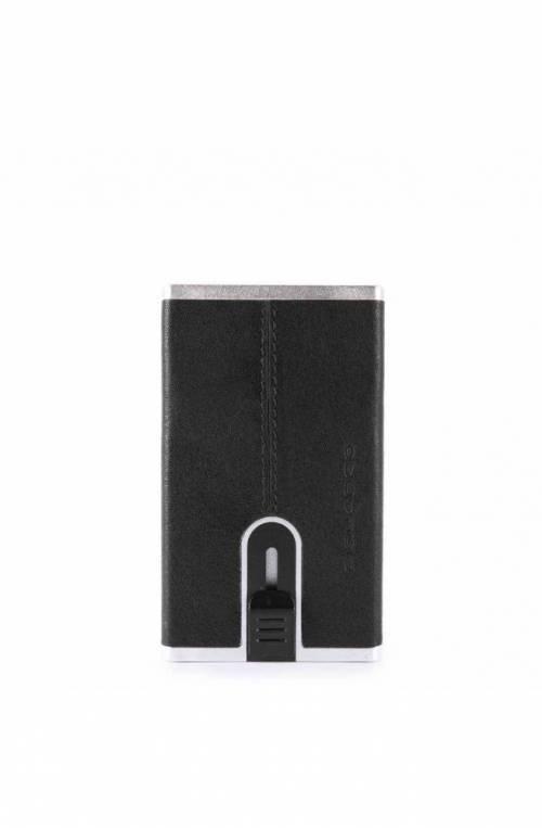 PIQUADRO Titular de la tarjeta Black Square sliding system Negro - PP4825B3R-N