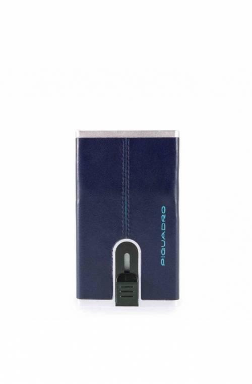 Portacarte PIQUADRO Compact wallet Blue Square Blu - PP4825B2R-BLU2