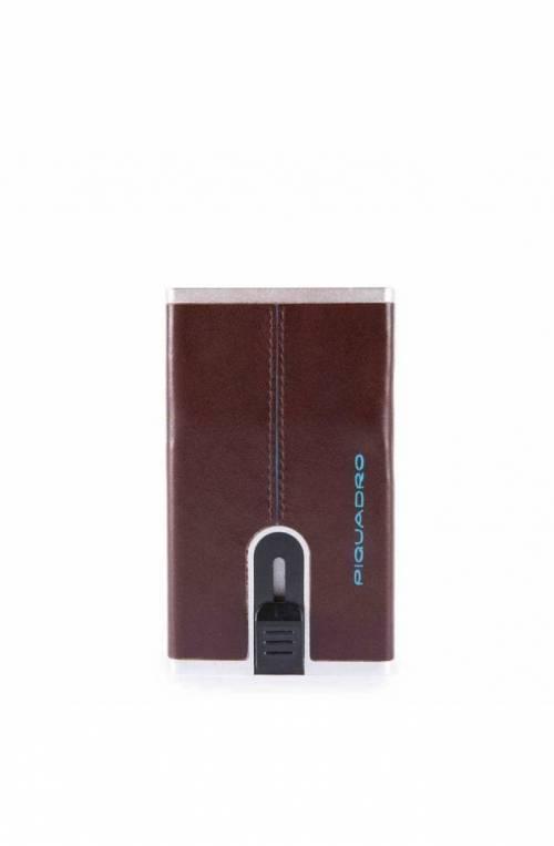 PIQUADRO Titular de la tarjeta Compact wallet Blue Square caoba - PP4825B2R-MO