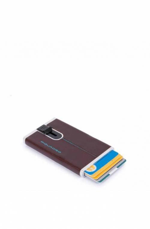 Portacarte PIQUADRO Compact wallet Blue Square Mogano - PP4825B2R-MO