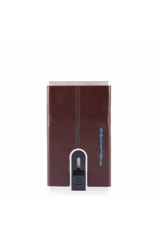 PIQUADRO Geldbörse Compact walle Blue Square Herren Mahagoni - PP4891B2R-MO
