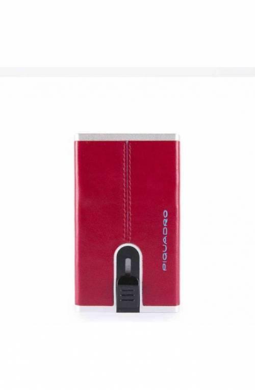 Portafoglio PIQUADRO Compact walle Blue Square Uomo rosso - PP4891B2R-R