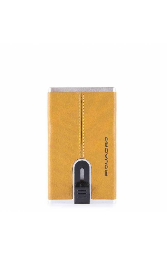 Portafoglio PIQUADRO Compact wallet Black Square Uomo Giallo - PP4891B3R-G
