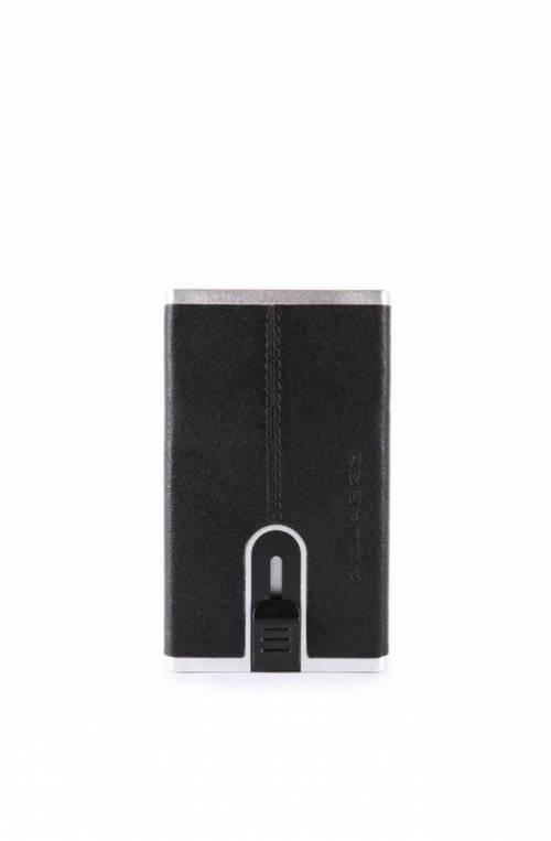 Portafoglio PIQUADRO Compact wallet Black Square Uomo Nero - PP4891B3R-N