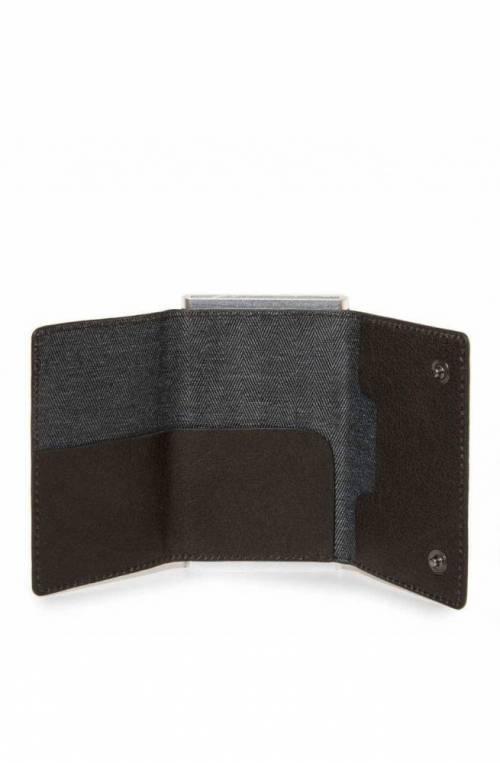 Portafoglio PIQUADRO Compact wallet Black Square Uomo Testa di moro - PP4891B3R-TM