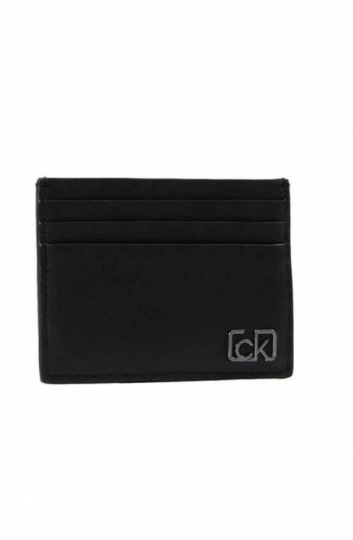 CALVIN KLEIN porta tarjetas de crédito SIGNATURE CARDHOL Piel Negro - K50K505313BDS