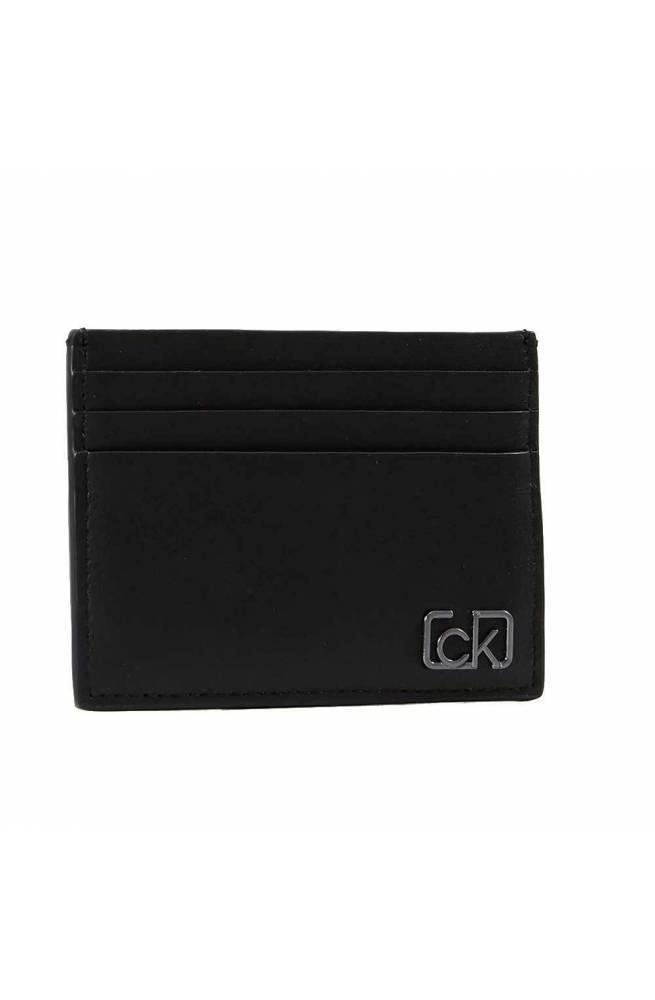 Porta carte di credito CALVIN KLEIN SIGNATURE CARDHOL Pelle Nero - K50K505313BDS
