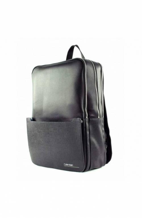 CALVIN KLEIN Backpack SLIVERED 3G SQUAR Male Black Tablet holder - K50K505121BDS