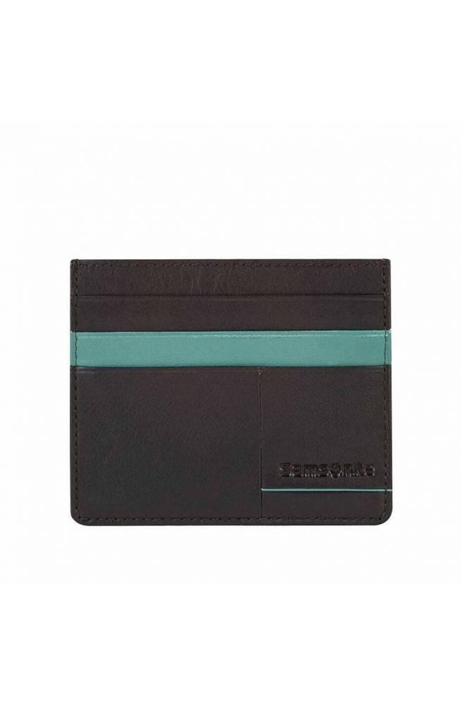 Porta carte di credito SAMSONITE Marrone-Turchese - CF0-13705
