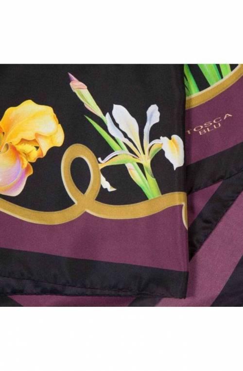 TOSCA BLU Scarf FLOWERS Purple - TF19RF795-VC80