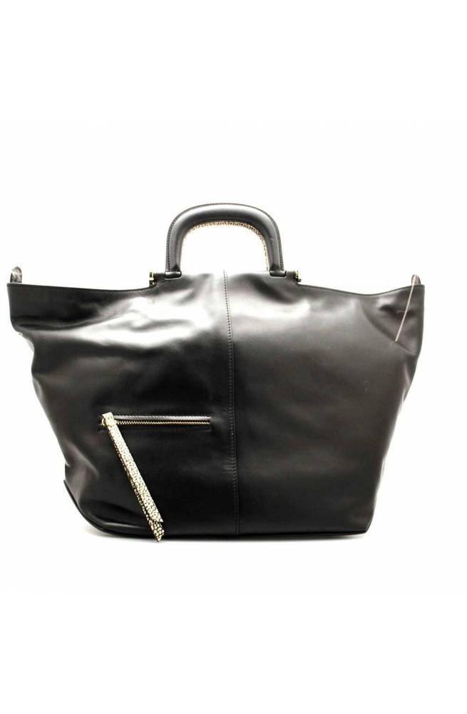 BORBONESE Bolsa Mujer Cuero Negro - 954631-G61-X80