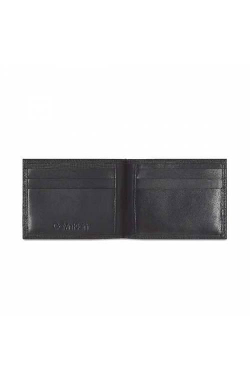 CALVIN KLEIN Wallet SIGNATURE Male Leather Black - K50K505498BAX