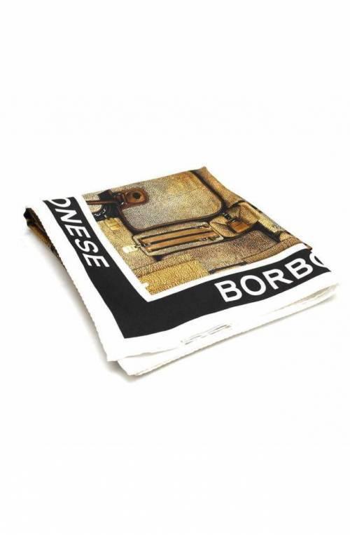 BORBONESE Scarf ARCHIVIO Female Silk Beige-Black - 6DS008-V88-070