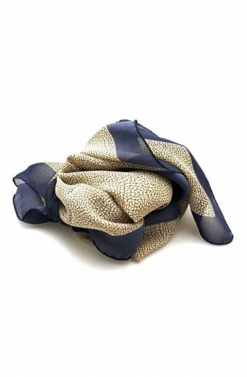 BORBONESE Scarf Female Silk Blue - 6DS002-N12-X08