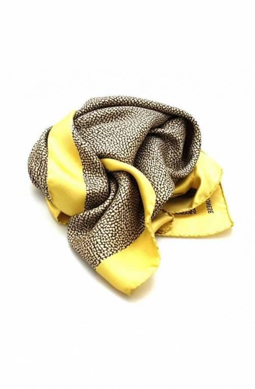 BORBONESE Scarf Female Silk yellow - 6DS002-N12-U84