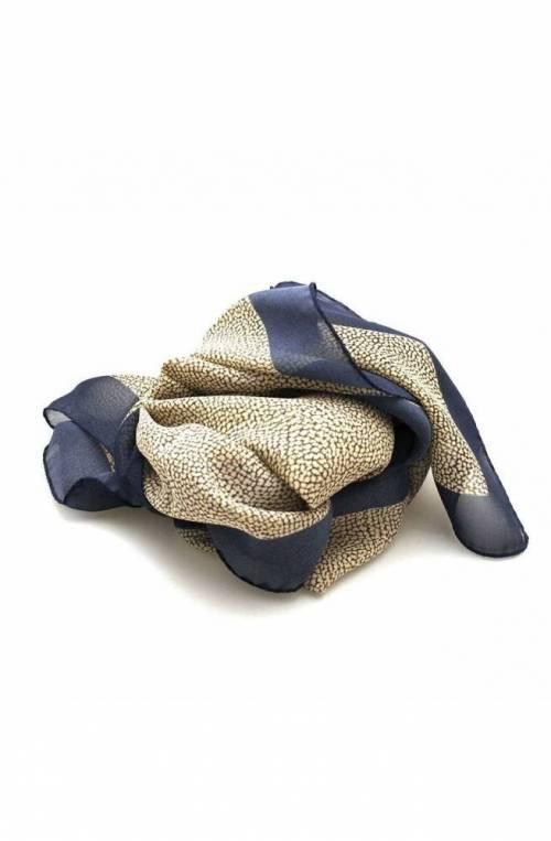 BORBONESE Stole Female Silk Blue - 6DS003-M49-X08