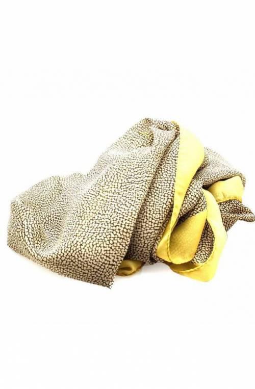 BORBONESE Stole Female Silk yellow - 6DS003-M49-U84