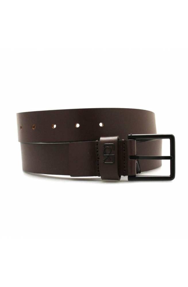 Cintura CALVIN KLEIN SIGNATUR Uomo Pelle Marrone - K50K505459GUE-110