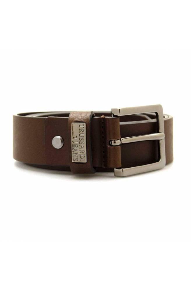 Cintura TRUSSARDI JEANS LASERATED Uomo Pelle 120 Marrone - 71L001209Y099999B220