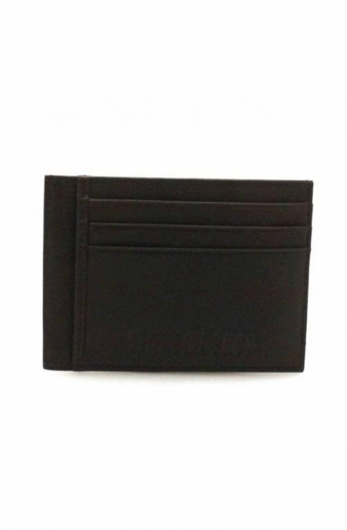 BIKKEMBERGS Credit card case LAYER Male Leather Dark brown - E2APME883093026