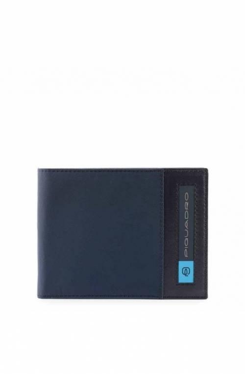 PIQUADRO Wallet PQ-Bios regenerated nylon Blue - PU1392BIO-BLU