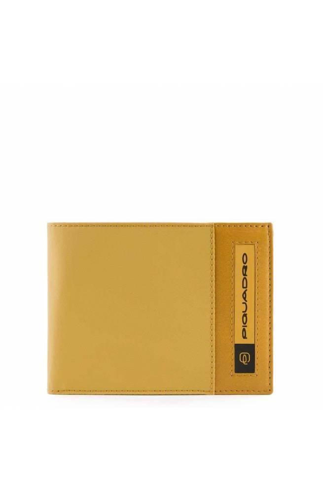 PIQUADRO Wallet PQ-Bios regenerated nylon yellow - PU1392BIO-G