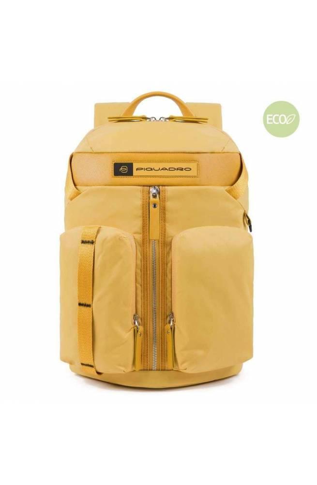PIQUADRO Backpack PQ-Bios regenerated yellow - CA5038BIO-G