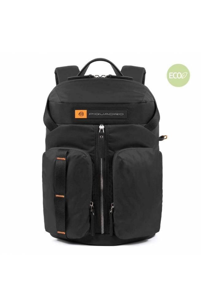 PIQUADRO Backpack PQ-Bios regenerated Black - CA5038BIO-N