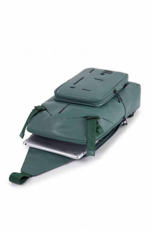 PIQUADRO Bag Kyoto Mono sling Leather Blue - CA4929S106-BLU