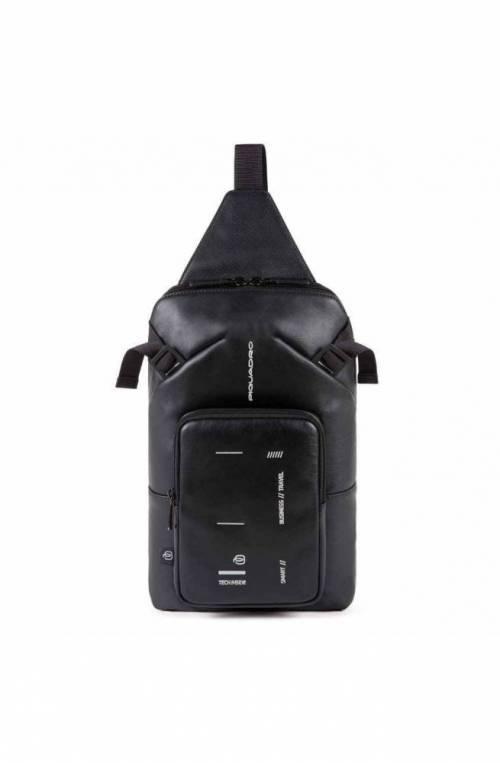 PIQUADRO Bag Kyoto Mono sling Leather Black - CA4929S106-N