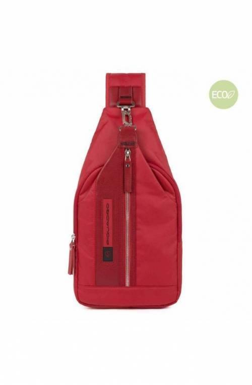 PIQUADRO Bag PQ-Bios Mono sling red - CA4536BIO-R