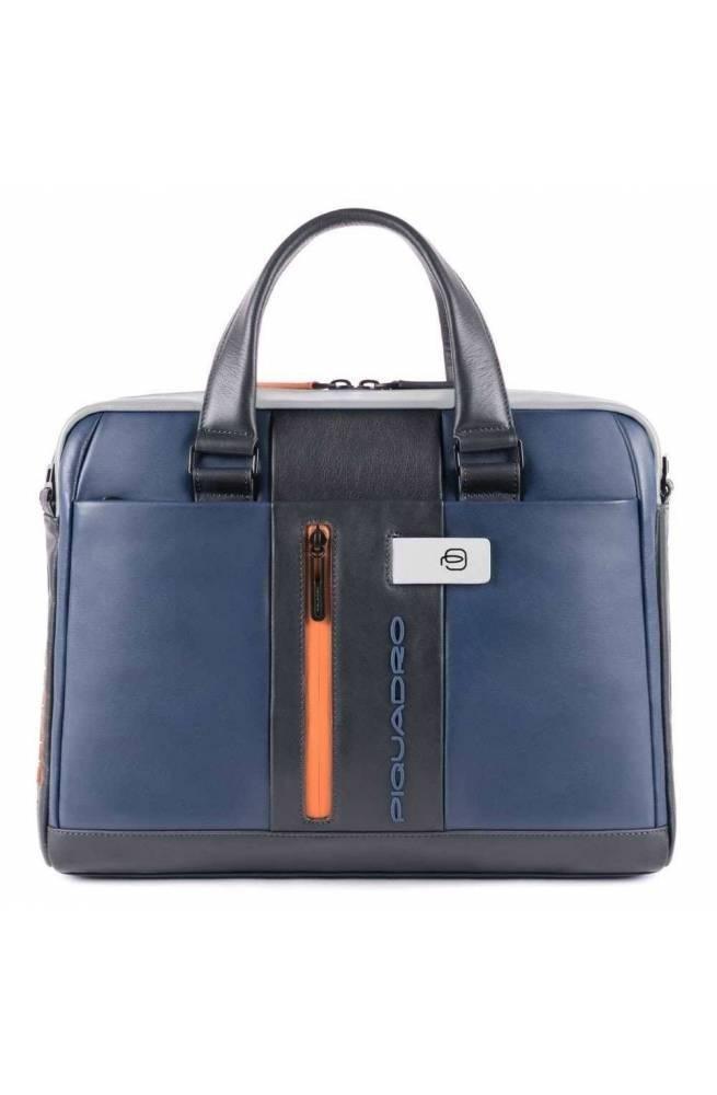 PIQUADRO Bag Urban briefcase Leather Blue-grey - CA4098UB00-BLGR