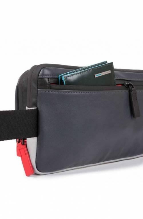 PIQUADRO Bag Urban The saddle Leather Grey-Black - CA4975UB00-GRN