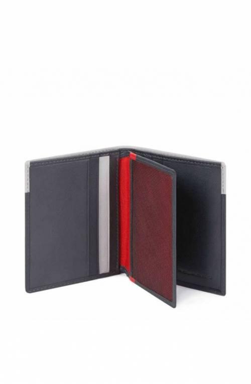 PIQUADRO Credit card case Urban Leather Grey-Black - PP1518UB00R-GRN