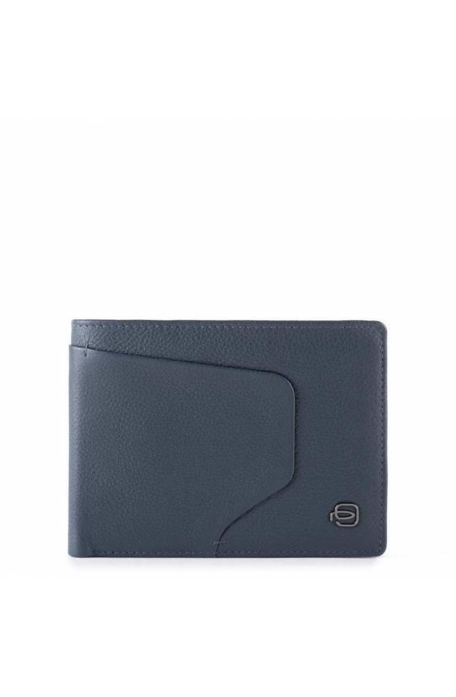 PIQUADRO Wallet Akron Leather Blue - PU1392AOR-BLU
