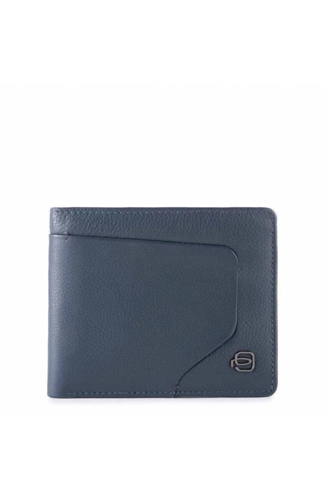 PIQUADRO Wallet Akron Leather Blue - PU4518AOR-BLU