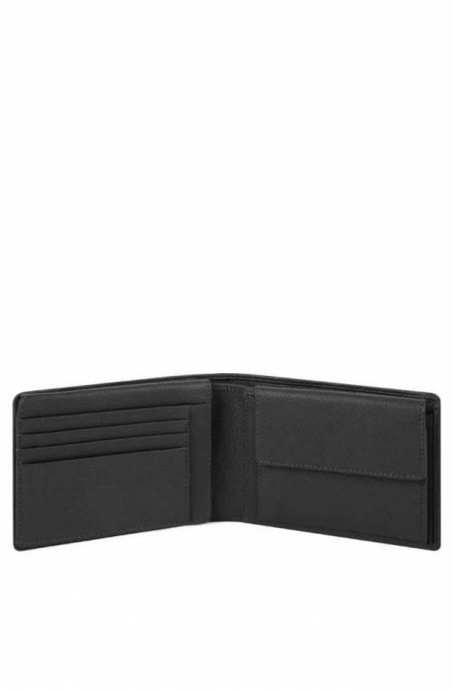 PIQUADRO Wallet Akron Leather Black - PU1392AOR-N