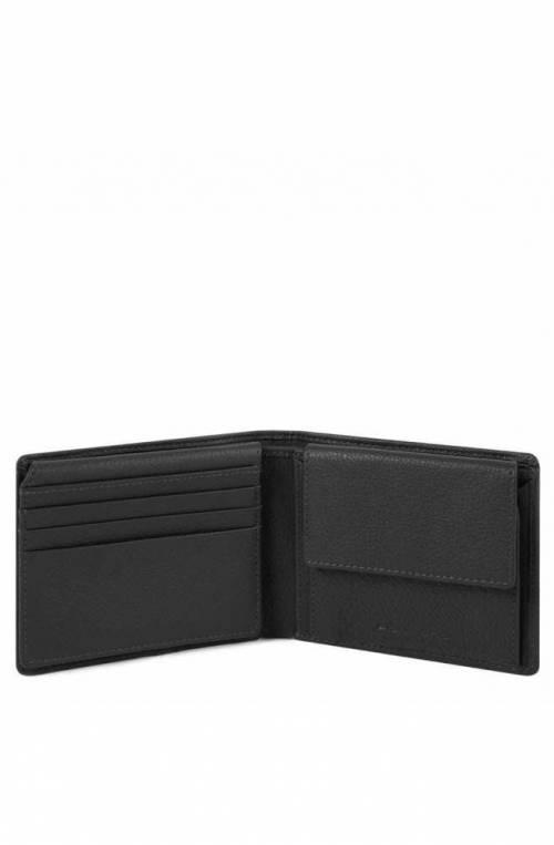 PIQUADRO Wallet Akron Leather Black - PU4518AOR-N