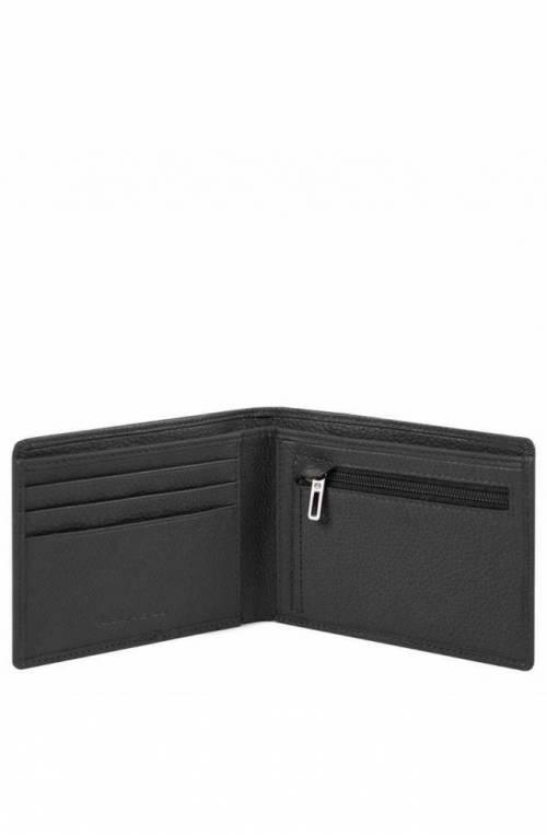 PIQUADRO Wallet Akron Leather Black - PU4823AOR-N