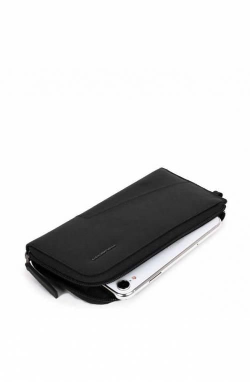 PIQUADRO Wallet Hakone Leather Black - PP4766S104R-N