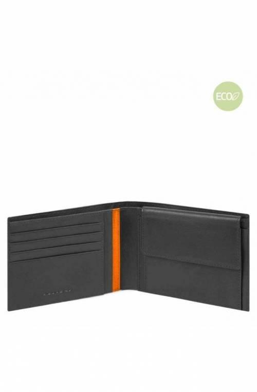 PIQUADRO Wallet PQ-Bios regenerated nylon Black - PU257BIO-N