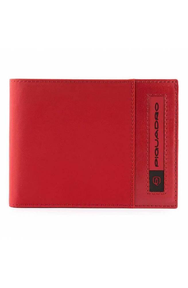 PIQUADRO Wallet PQ-Bios Male regenerated nylon red - PU3891BIO-R