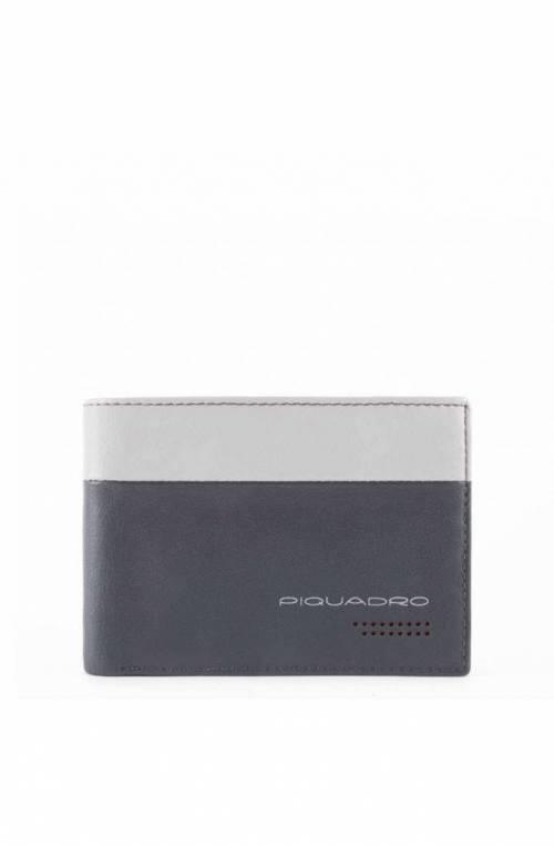 PIQUADRO Wallet Urban Leather Grey-Black - PU257UB00R-GRN
