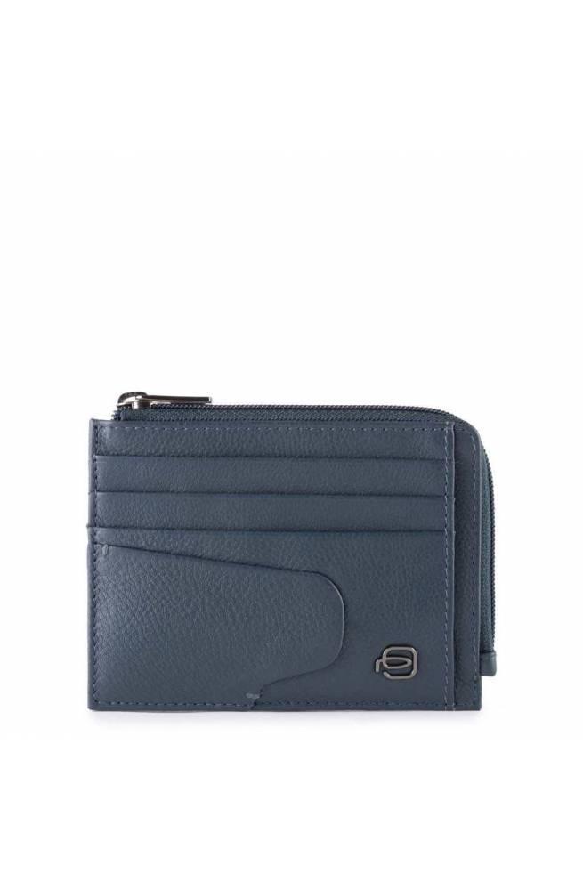 Portamonete PIQUADRO Akron Pelle Blu - PP4822AOR-BLU