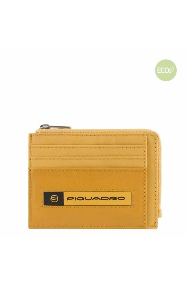 PIQUADRO Zip coin PQ-Bios regenerated nylon yellow - PP4822BIO-G