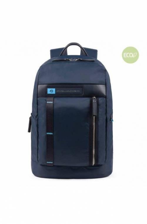 PIQUADRO Backpack PQ-Bios regenerated nylon Blue - CA4545BIO-BLU
