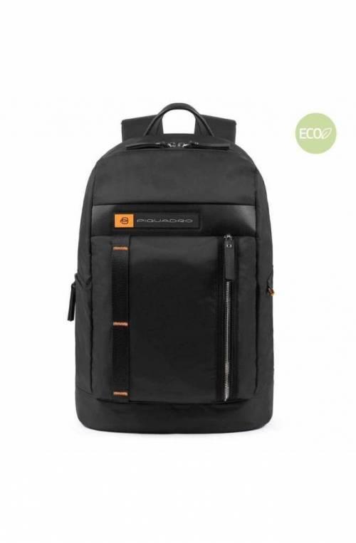 PIQUADRO Backpack PQ-Bios regenerated nylon Black - CA4545BIO-N