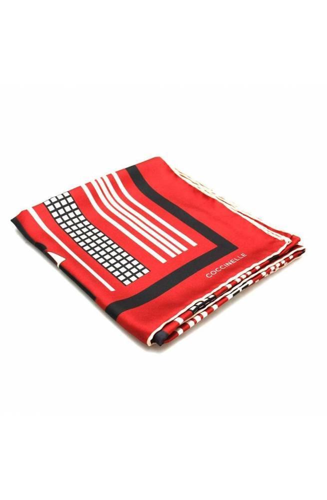 COCCINELLE Scarf SCARVES Female Silk Multicolor Red - E7GY1380201M88