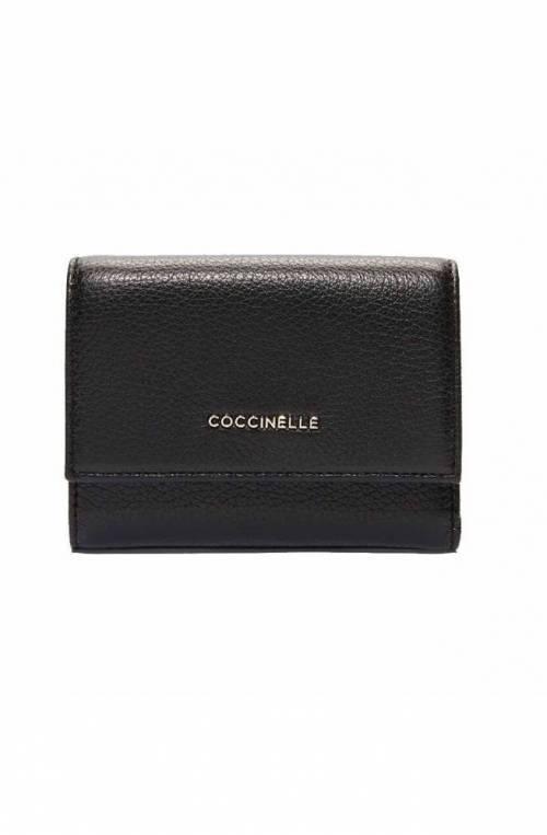 Portafoglio COCCINELLE METALLIC SOFT Donna Pelle Nero - E2GW5111001001