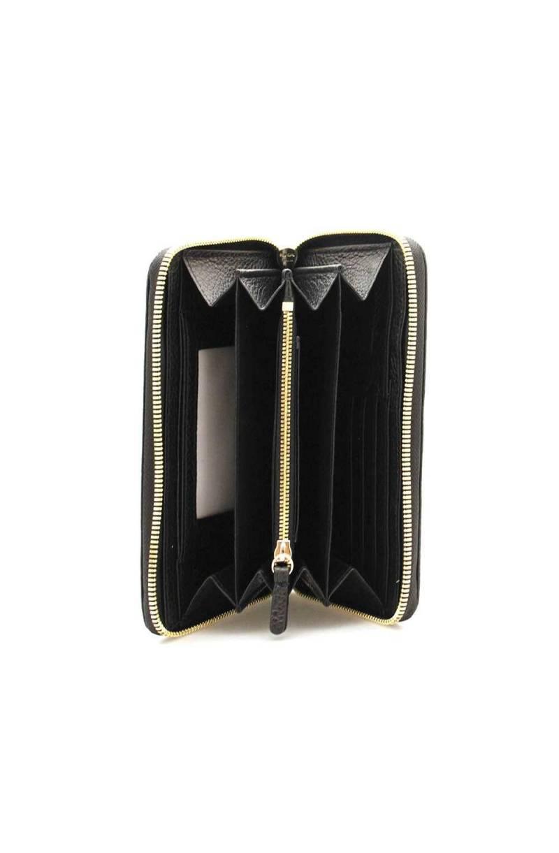 E2GW5113201001 Moda Portafoglio COCCINELLE METALLIC SOFT Donna Pelle Nero